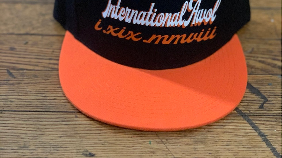 Black/Orange International AWoL snapback