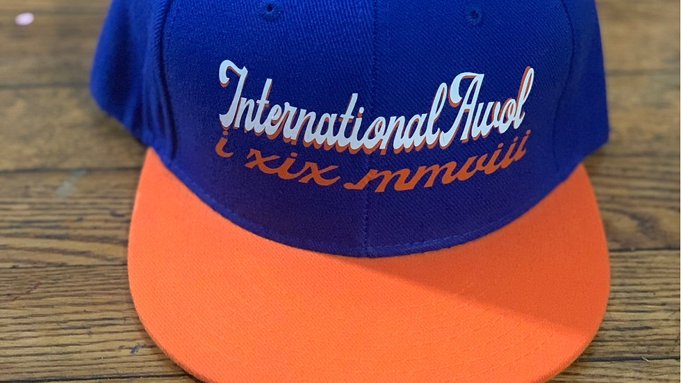 Blue/Orange International AWoL snapback