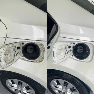 Gas Cap Door Cleaned