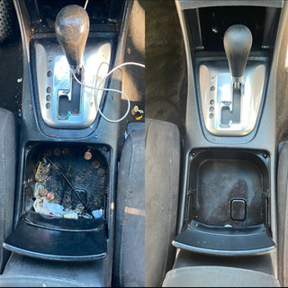 Center Console STEAM cleaned and disinfected