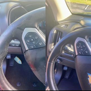 Steering Wheel Disinfected