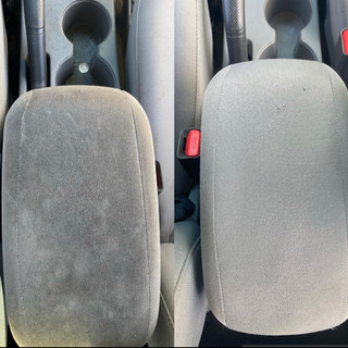 Armrest cleaned and restored