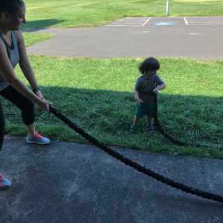 Mommy me battle ropes