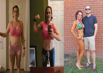 Jenean Beke before & after training at Spire Fitness