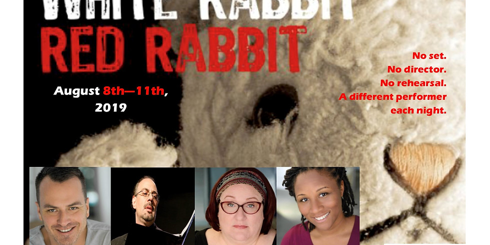 White Rabbit, Red Rabbit (featuring David Lee) Thursday, August 8th, 2019 at 7:00pm