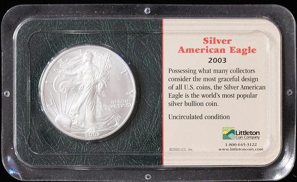 2003 Silver American Eagle