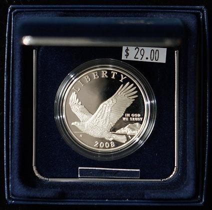2008 Bald Eagle Proof Silver Dollar