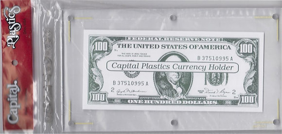 Capital Plastics Large Currency Holder 5x9