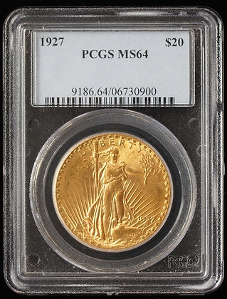 1927 Gold $20 Gold Graded