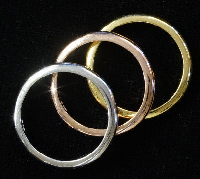 Silver .925 , Rose & Gold Stacker Ring Set