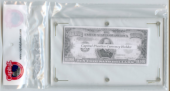 Capital Plastics Paper Currency Holder
