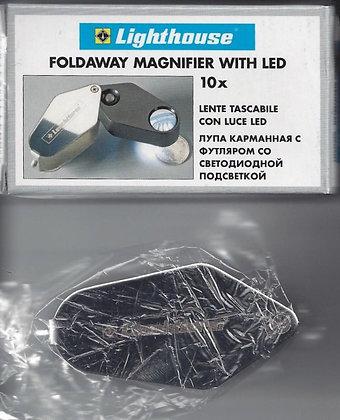 Lighthouse Foldaway Magnifier LED 10x