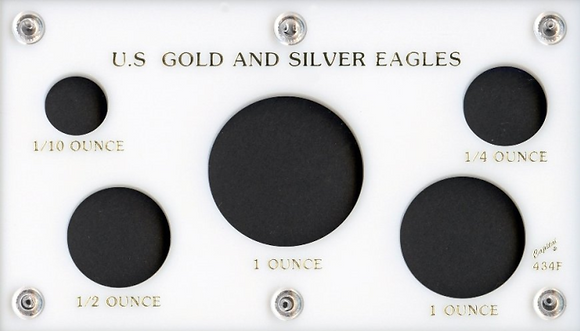 Capital Plastics US Gold & Silver Eagle Holder