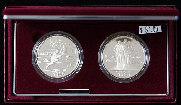 1995 U.S. Olympic Silver Dollar Proof Coin Set