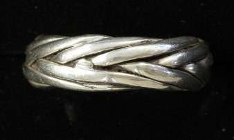 Used Silver Stacker Wheat Band