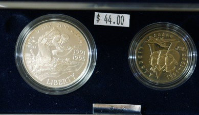 United States Mint WWII 50th Anniversary Coins