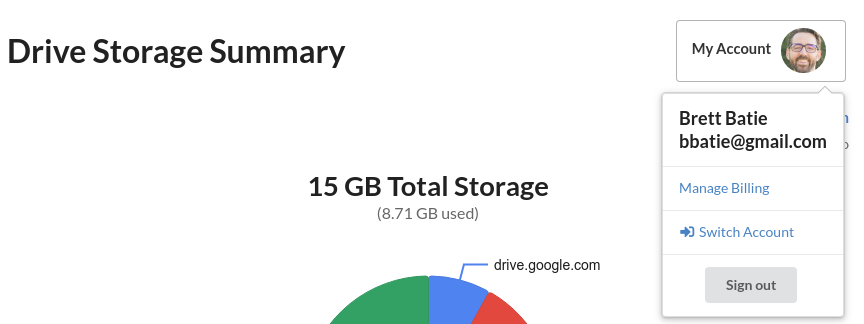 Switch Google Accounts in Clean Drive