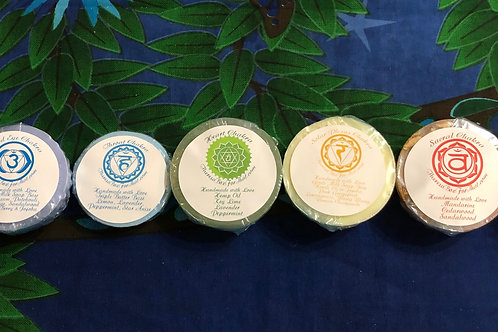 Chakra Soaps with Crystals