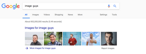 Google Image Search: Guys