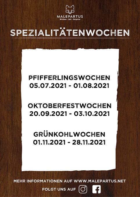 Plakat DinA1 Malepartus - Spezialitäten