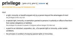 Definition of privilege.