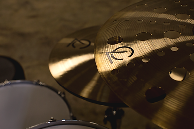 cymbal with holes close from front 8x10.