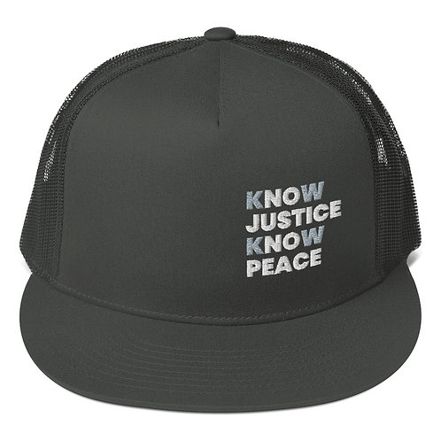 Know Justice, Know Peace Mesh Back Snapback