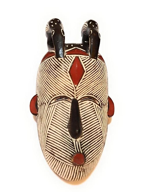"""12"""" Female African Congo Songi Songe Songye Kwifibe Wood Mask"""