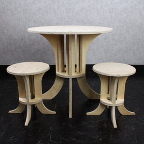 Kid2D3D table and stool set