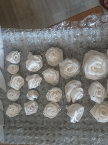 Pieces for a bridal fascinator.