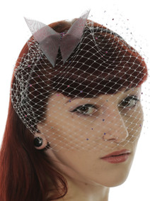 Butterfly and Vail Fascinator