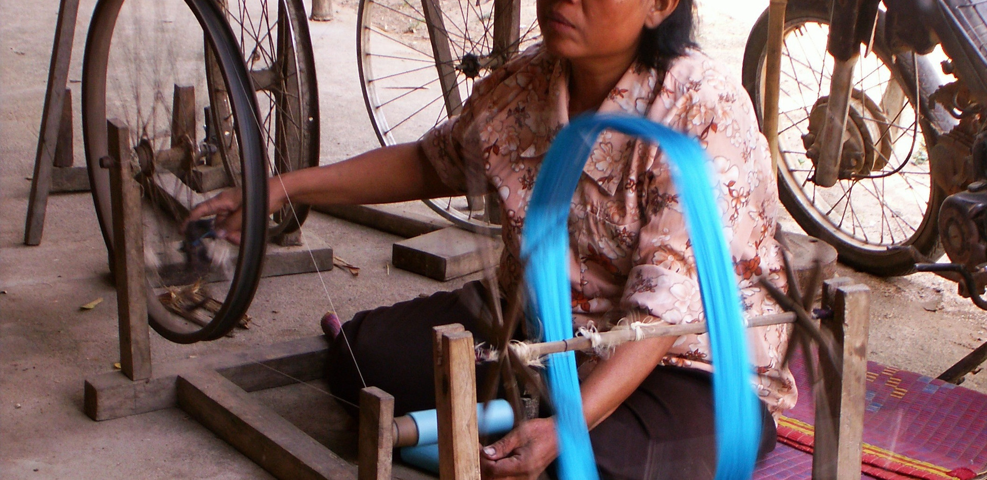 Thread is spun before weaving