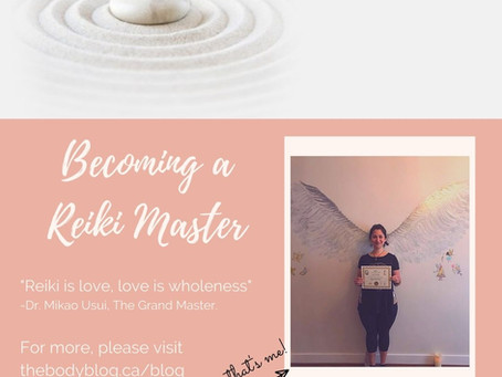 Becoming a Reiki Master.