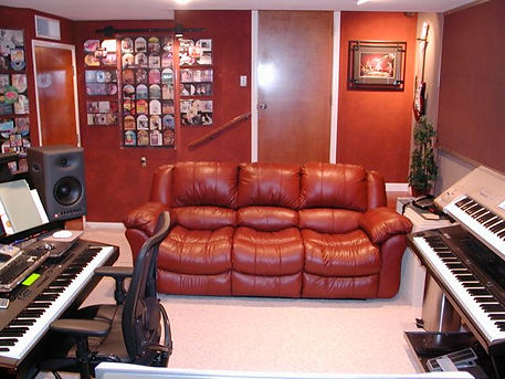 DKS Productions, Studio control room, couch and gallery