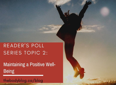 Reader's Poll Series Topic 2: Maintaining a Positive Well-Being