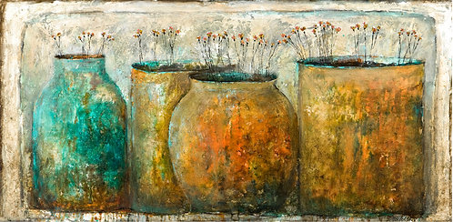 """LAYERS OF TIME No. 2        (25"""" x 50"""")"""