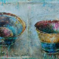 """Tea Cups No.4 (24'x48"""")"""
