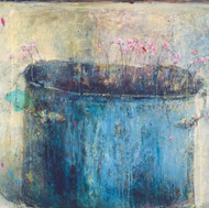 """Margaritki in a Blue Pot (35""""x52"""")"""