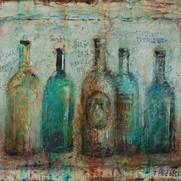 "Five Bottles (14""x17"")"