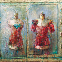 """Mannequins in Red (40""""x48"""")"""