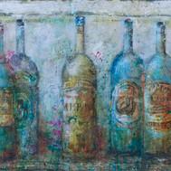 """Vintage Bottles (27""""x44"""")"""