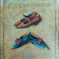 """Blue and Red Shoes (48""""x40"""")"""