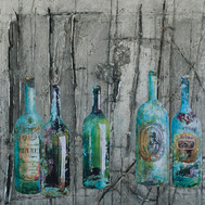 """Bottles from the Past (60""""x50"""")"""