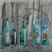 "Bottles from the Past (60""x50"")"