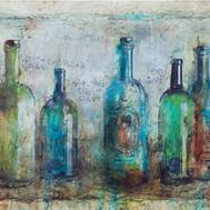 "Blue Bottles (15""x26"")"