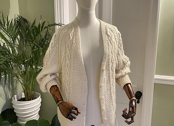 Aran Wool Knit Cardigan /Jacket