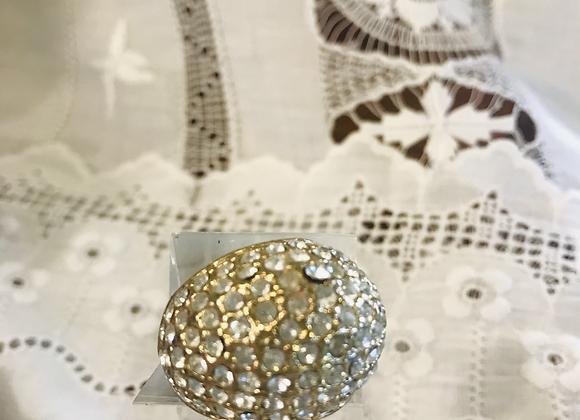 Diamante Encrusted Dome Ring