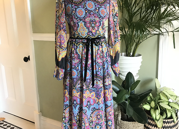 1970s Cotton mix Maxi Dress