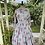 1950s Grey and Pink Fit and Flare Dress Front View