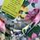 1980s Pretty Floral Tea Dress Close Up View